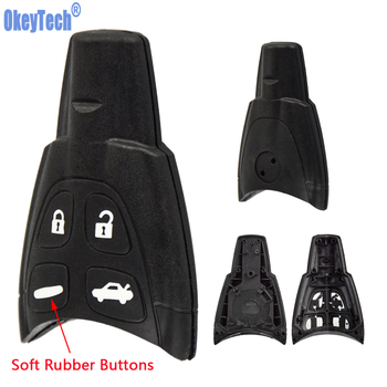 OkeyTech 4 Buttons Car Key Case Shell Fob For SAAB 93 95 9-3 9-5 WF Soft Button Replacement Keyless Entry Remote - discount item  5% OFF Auto Replacement Parts