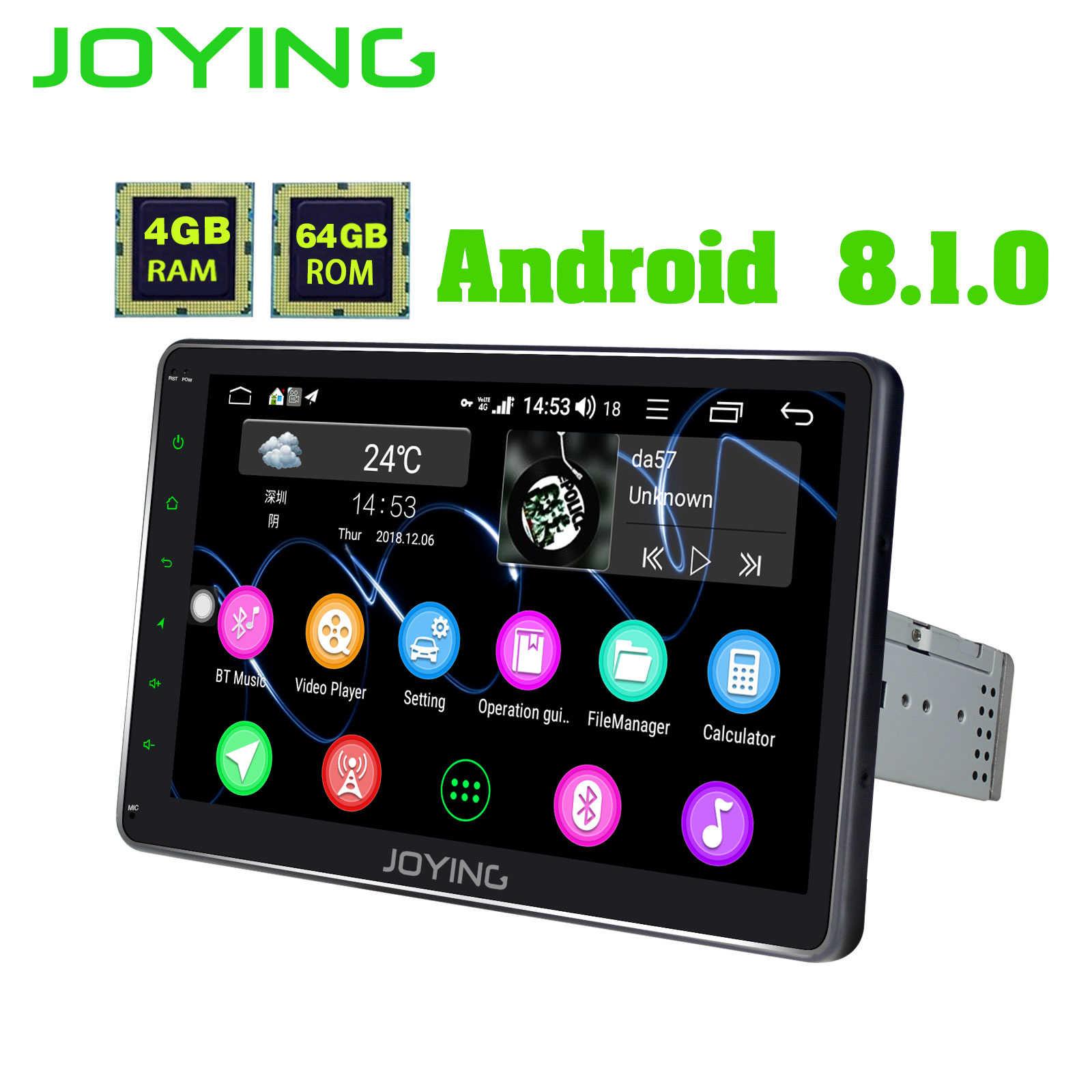 "JOYING 10 ""オクタコアヘッドユニットアンドロイド 8.1 ユニバーサルカーラジオステレオ 1280*720 HD NO DVD プレーヤー内蔵 DSP SPDIF BT Fm のステアリング"