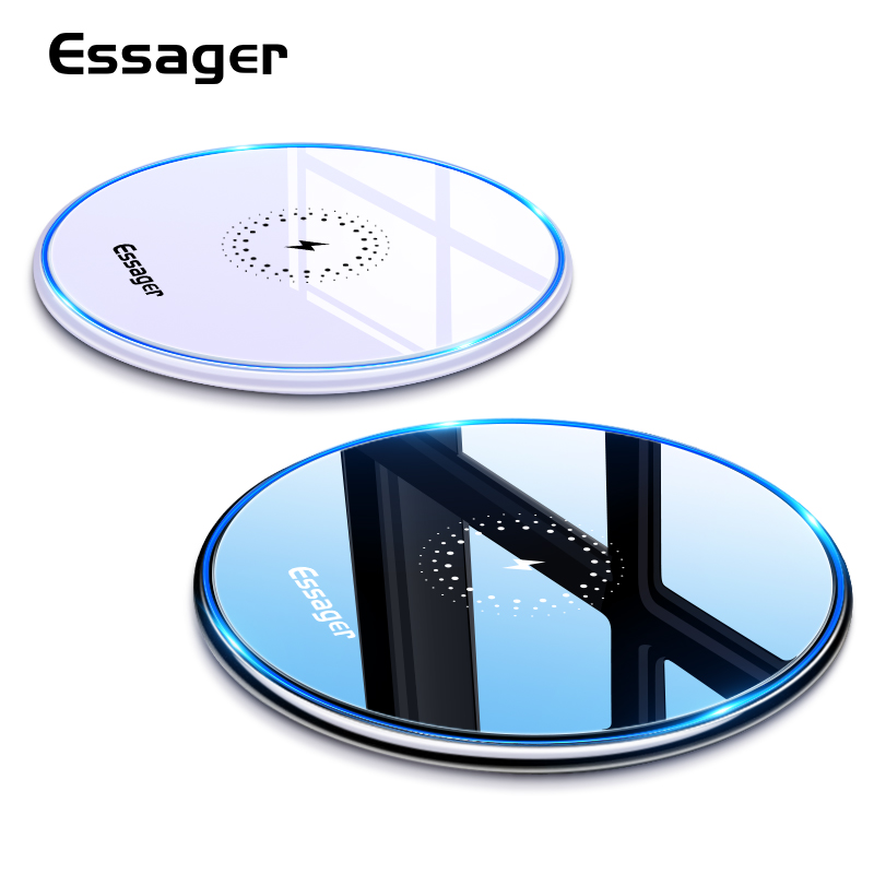 Essager 10W Qi Wireless Charger For IPhone 11 Pro Xs Max X Xr 8 Induction Fast Wireless Charging Pad For Samsung S10 Xiaomi Mi 9
