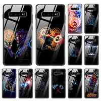 Tempered Glass Phone Case for Samsung Galaxy A30 A50 A70 Note105G Note10Plus5G Silicone Soft Edge Thanos The Avengers