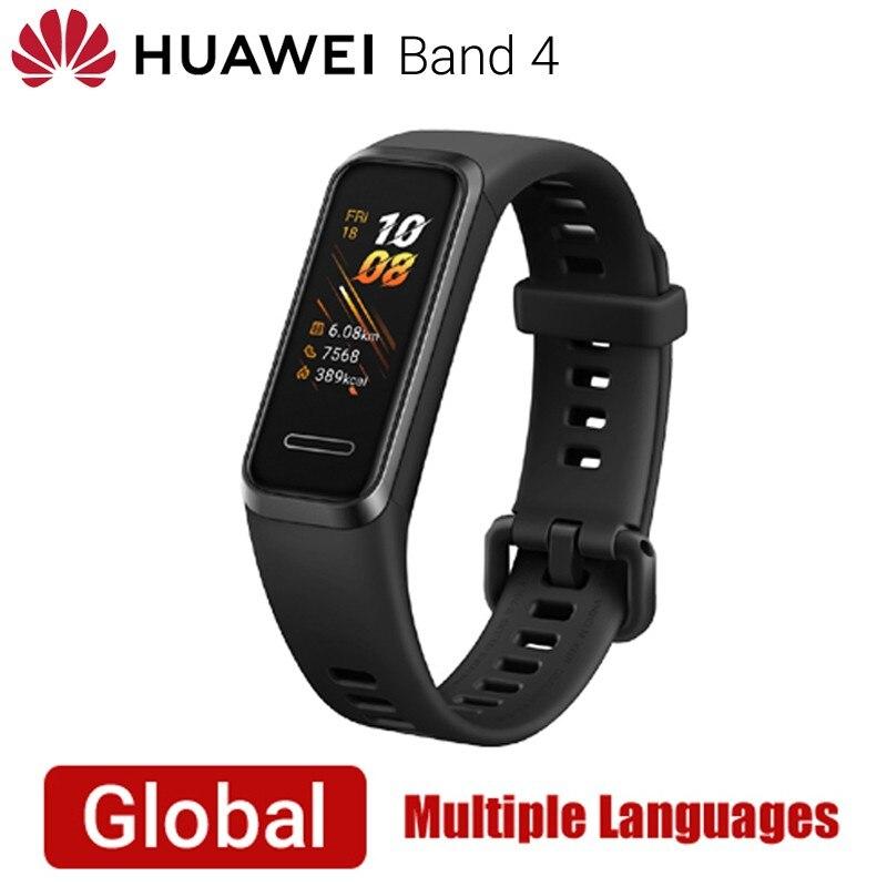 Original Huawei bande 4 globale Vesion montre intelligente fréquence cardiaque Fitness bande Tracker Sport Bracelet intelligent étanche Bracelet hommes