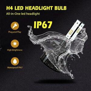 Image 5 - Infitary 2pcs Led H4 H7 자동차 헤드 라이트 전구 4 측면 조명 칩 16000Lm H11 H13 HB3 HB4 9005 Canbus 자동 조명 6500K 12V 램프