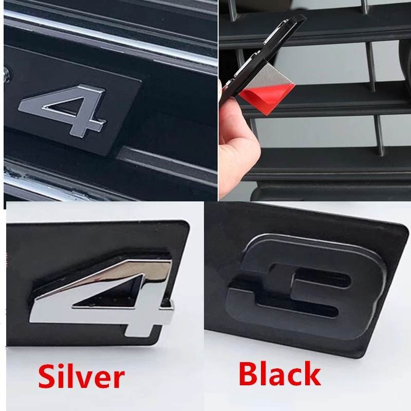 S3 S4 S5 S6 S7 S8 RS3 RS4 RS5 RS6 RS7 RS8 RSQ3 RSQ5 RSQ7 Suporte TTS Grelha Emblema Logotipo Do Emblema Do Carro preto brilhante adesivos para Audi Adesivos para carro    -