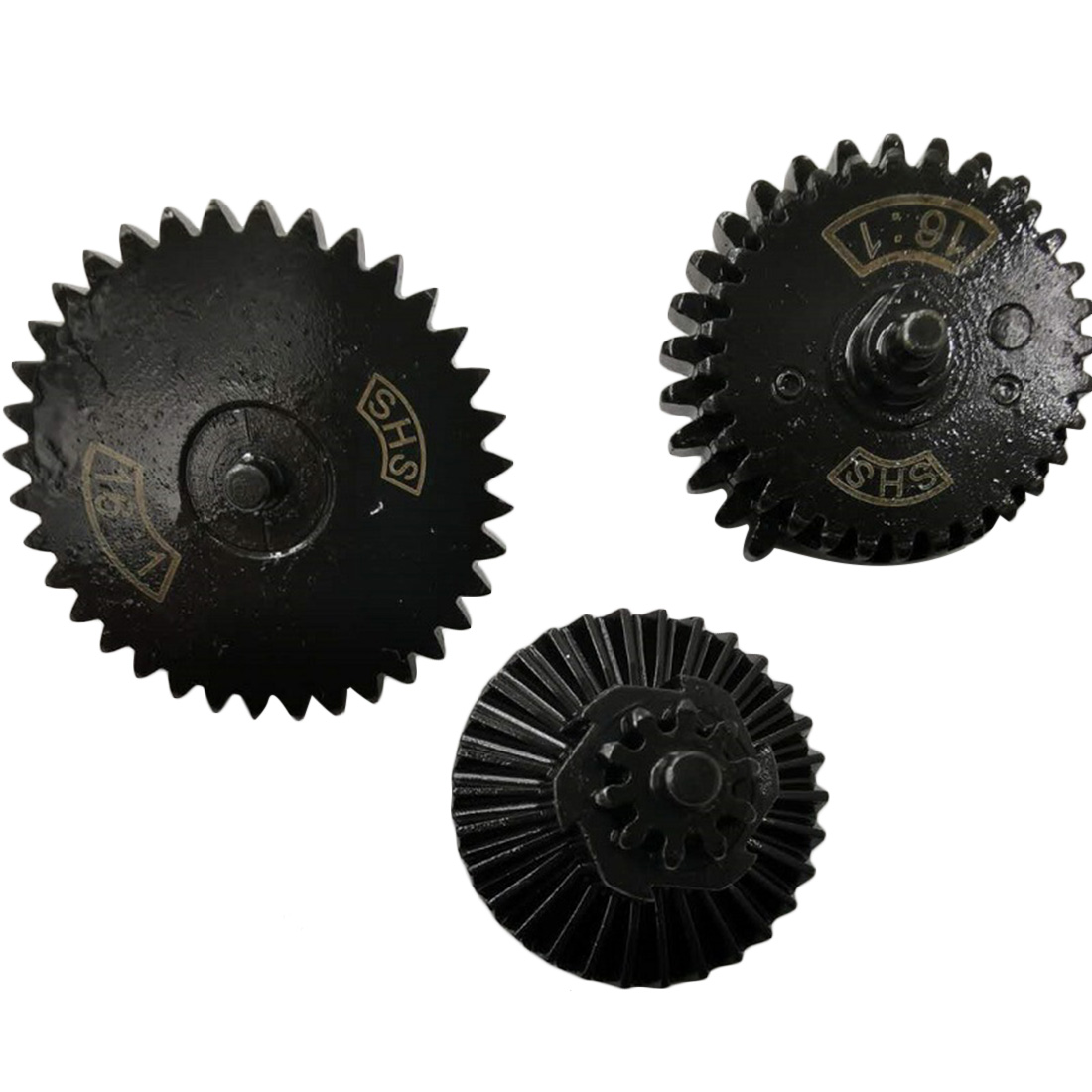 New Hot SHS 16/1 Straight Teeth Steel Gear Set For JM Gen.8 Gen.9 - Black