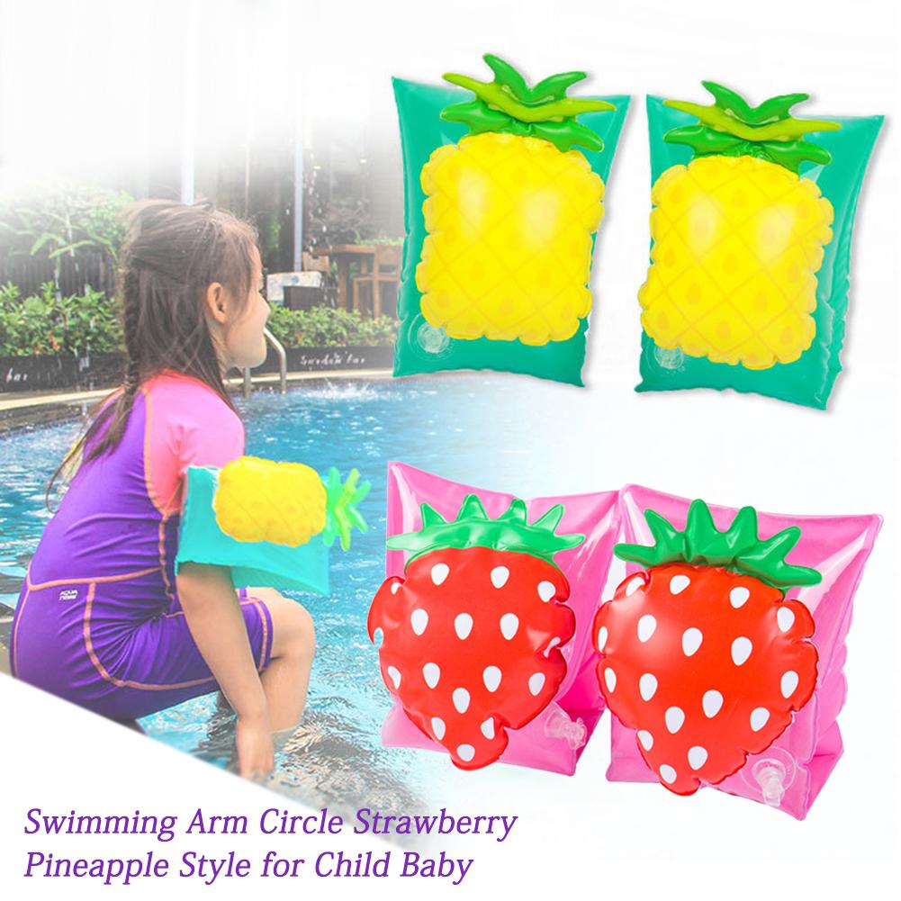 Swimming Arm Circle Strawberry Pineapple Style 100% PVC Easy Storage And Carry For Children Baby Safety Training Toy