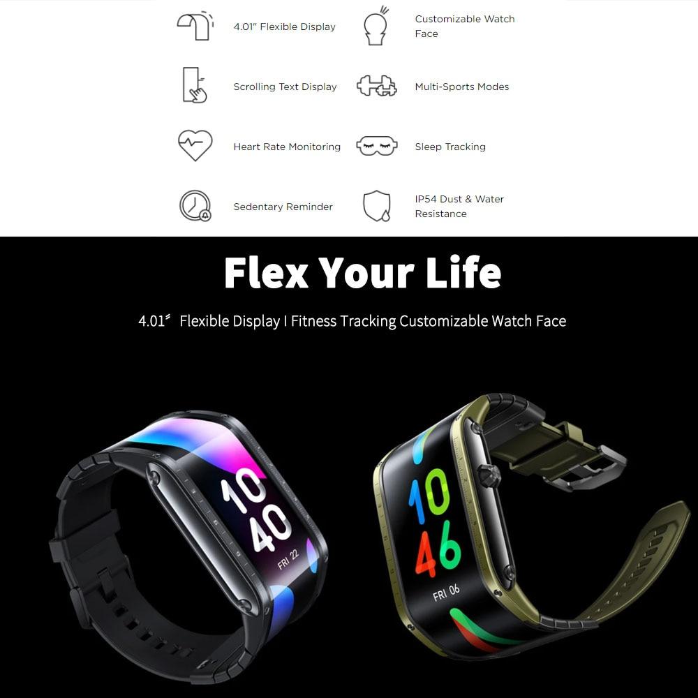 """Глобальная версия оригинальный Nubia Смарт-часы телефон 4,01 """"AMOLED Складная Snapdragon 8909W Bluetooth сотовый телефон Nubia часы-5"""