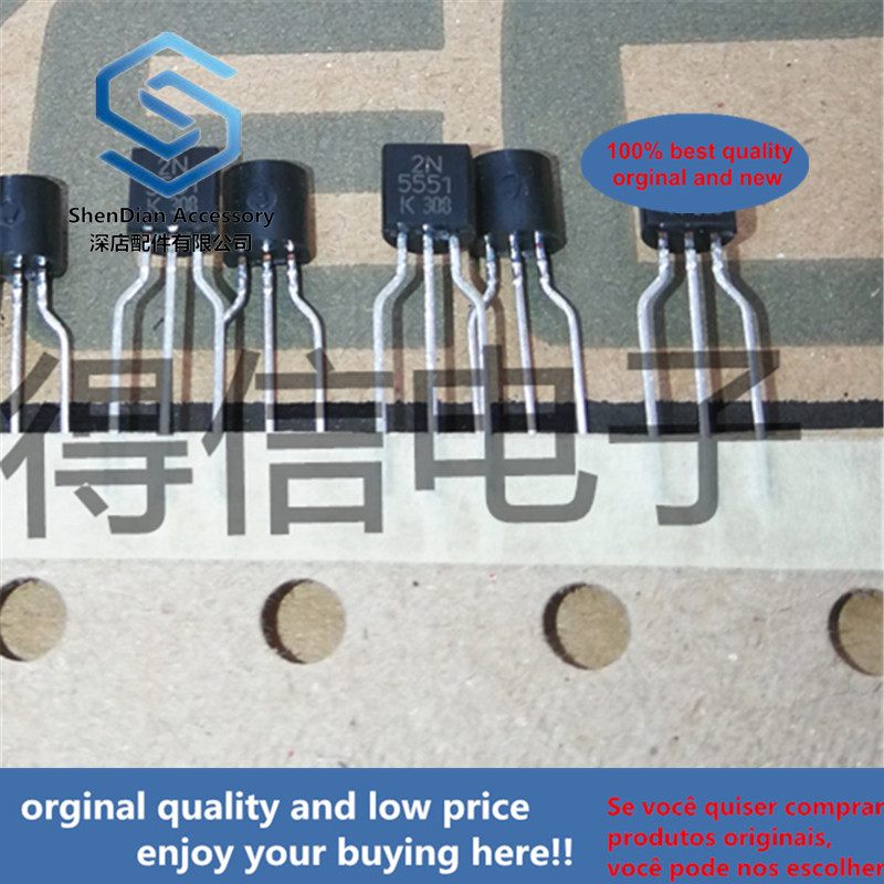 30pcs 100% Orginal New 2N5551 5551 Plastic-Encapsulate Transistors TO-92 Real Photo