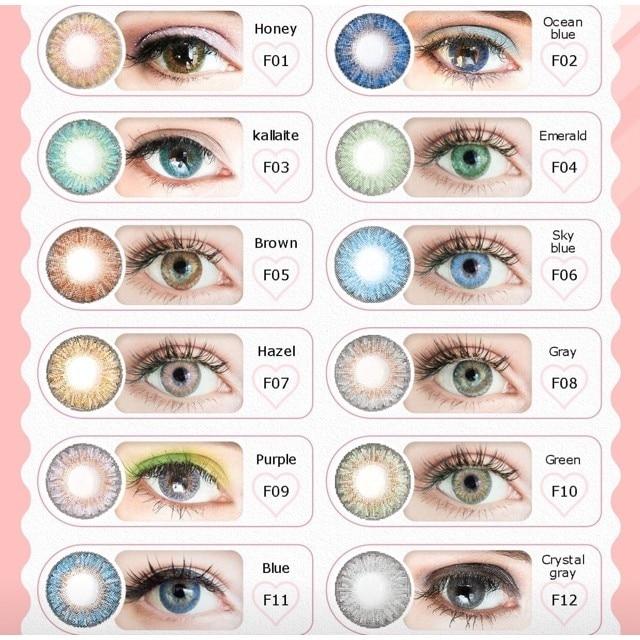 Трехцветные Большие Контактные линзы для макияжа глаз, мягкие цветные контактные линзы, 1 пара = 2 цветные линзы для глаз ed