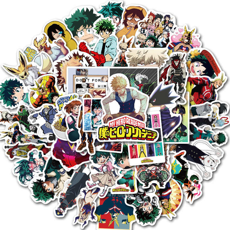 50Pcs Mijn Hero Academia Japan Anime Stickers Voor Laptop Skateboard Izuku Midoriya Zou Boku Geen Hero Academia Karakter Decals