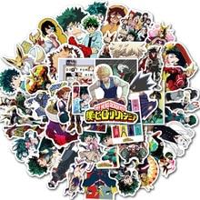50 шт. Мой герой академия Япония аниме наклейки для ноутбука скейтборд Идзуку Мидория Might Boku No Hero Academia Персонаж наклейки