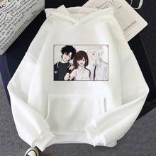 Shiguang Dailiren Hoodie Kawaii  Aesthetic Sun Flower Pocket Same Paragraph Casual Loose Anime Carton Cute Print  Sweatshirts