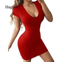 Женское соблазнительное облегающее платье с круглым вырезом