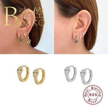 Висячие серьги BOAKO для женщин, змея, бриллиантовые серьги из серебра, роскошный Циркон #8,7|Серьги-подвески|   | АлиЭкспресс