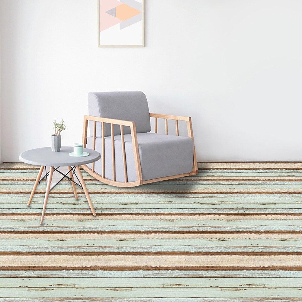 Couleur bois Grain sol autocollants sol papier peint étanche résistant à l'usure auto-adhésif carrelage salon chambre EWF050