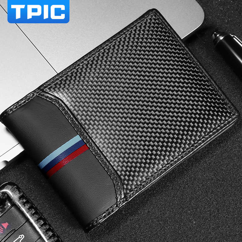 Car Driver License Credit ID Card Holder Carbon Fiber Wallet For Mercedes W204 W203 W211 BMW E90 E46 E60 M Mustang Subaru BRZ