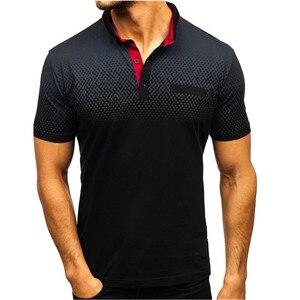 Image 1 - 브랜드 뉴 남성 폴로 셔츠 고품질 남성 코 튼 반소매 셔츠 브랜드 유니폼 여름 남성 폴로 셔츠 camisa 폴로 S 3XL