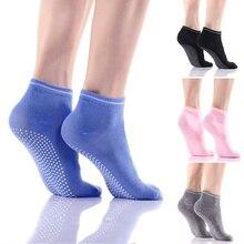 1 pairs Yoga Socks Anti slip Silicone Gym Pilates Ballet Socks Fitness Sport Socks Women Cotton Breathable Elasticity Free Size