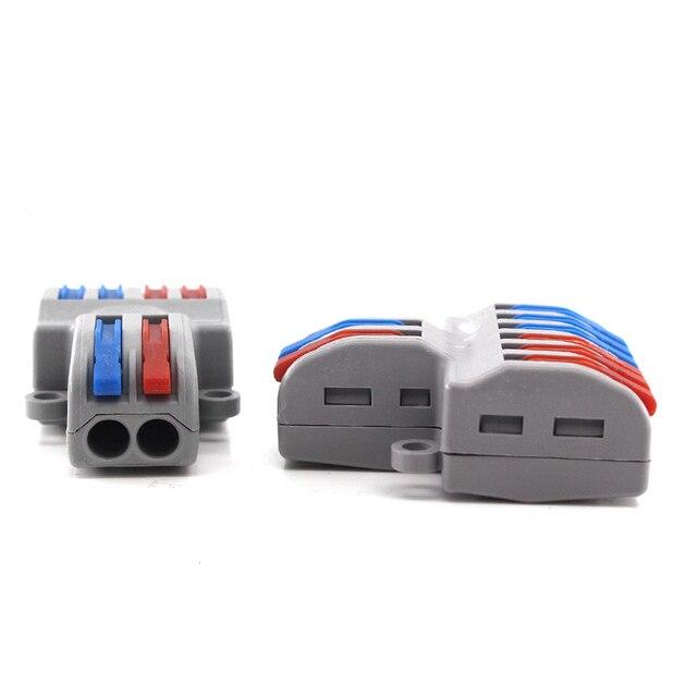 Connecteur de fil 4/6 2 en   Type connecteur de fil connecteurs rapides, convertisseur universel à conducteur de câblage Compact