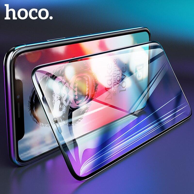 HOCO 2019 для Apple iPhone 11 pro Max X XS Max XR HD закаленная Защитная стеклянная пленка для экрана полная защитная крышка + инструмент для установки