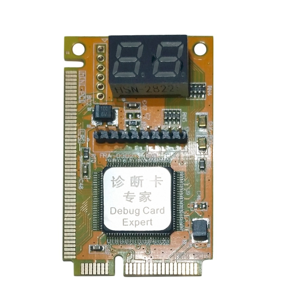 3 In 1 Mini PCI-E LPC PC Analyzer Tester POST Card Test For Notebook Laptop Hexadecimal Character Display High Stability