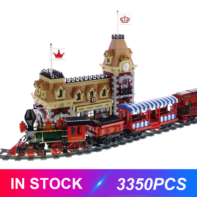 2020 Lepinblocks  J11001 Train And Station Compatible 71044 Building Bricks Educational Toy Christmas Best Xmas Gifts