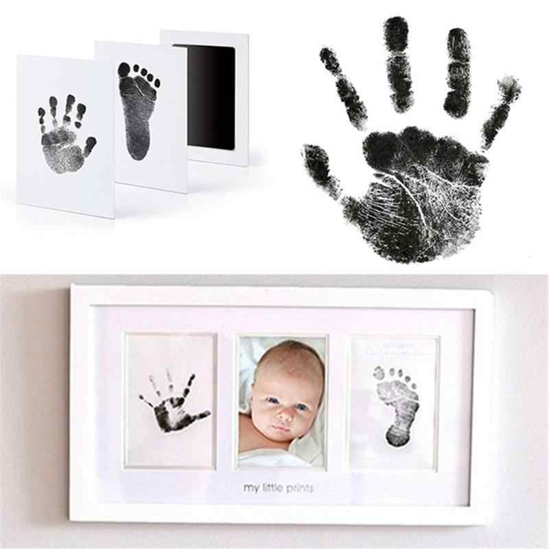 Newborn Baby Non-Toxic Handprint Footprint Oil Pad Painting Ink Pad Photo Hand Foot Print Pad Wonderful Souvenir Clay Toy Gifts