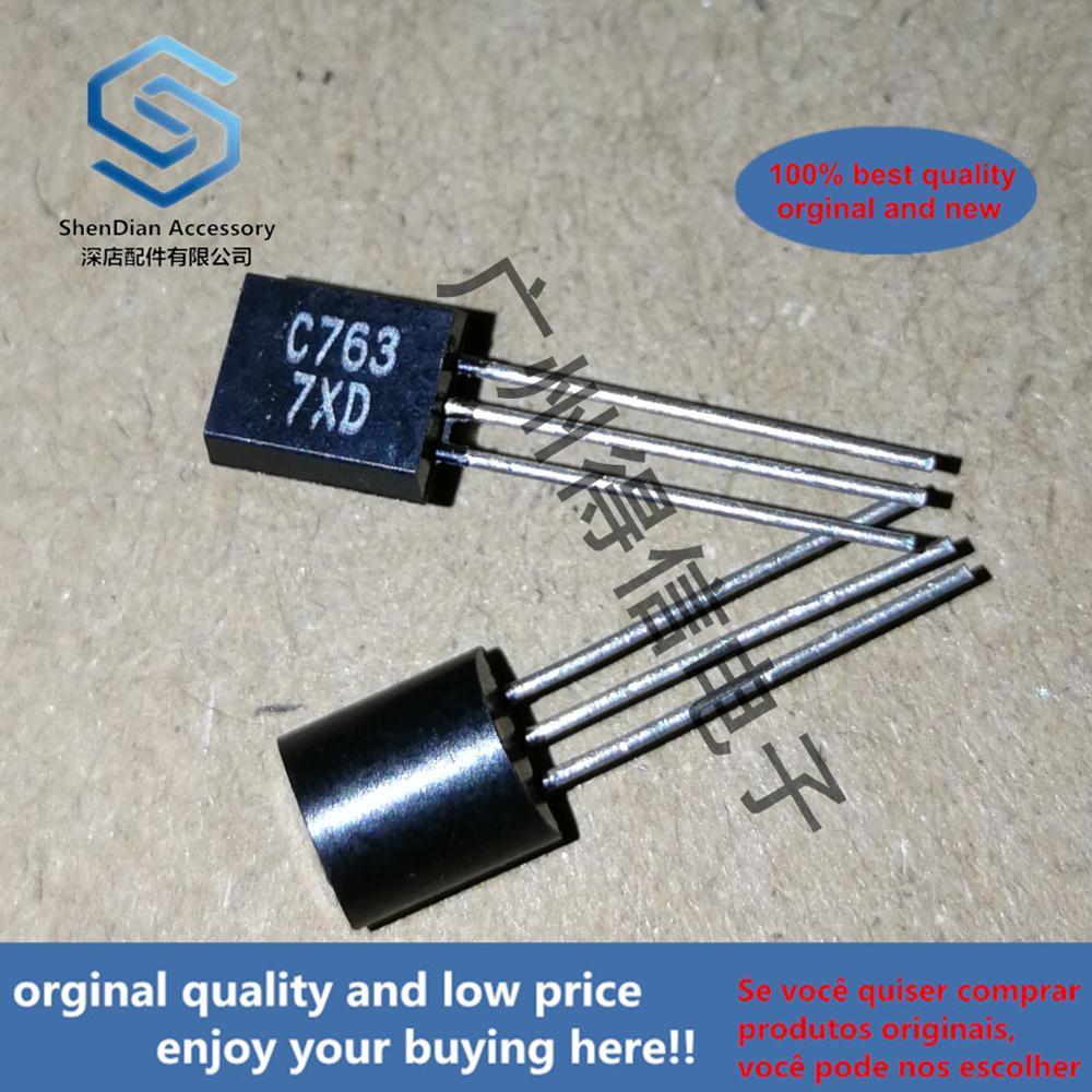 5pcs 100% Orginal New 2SC763D C763 Large SIZE Transistor TO-92 Real Photo