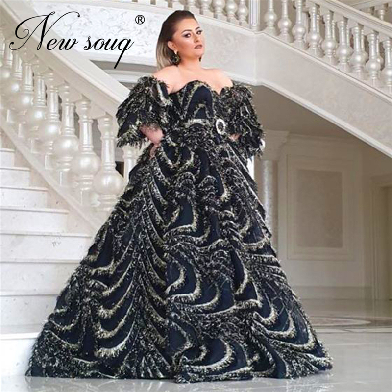 Handmade Off The Shoulder Long Party Dress Prom Dresses For Weddings 2020 Robe De Soiree Turkish Islamic Evening Dresses Dubai
