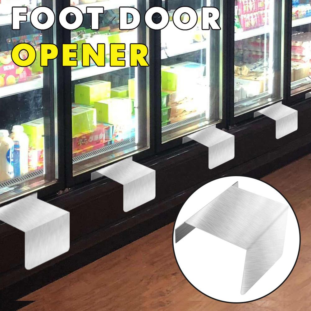 Metal Contactless Hands Free Door Opener Anti-Contact Foot Pull Step Pedal Tool Convenient Use Educe Paper Towel Costs