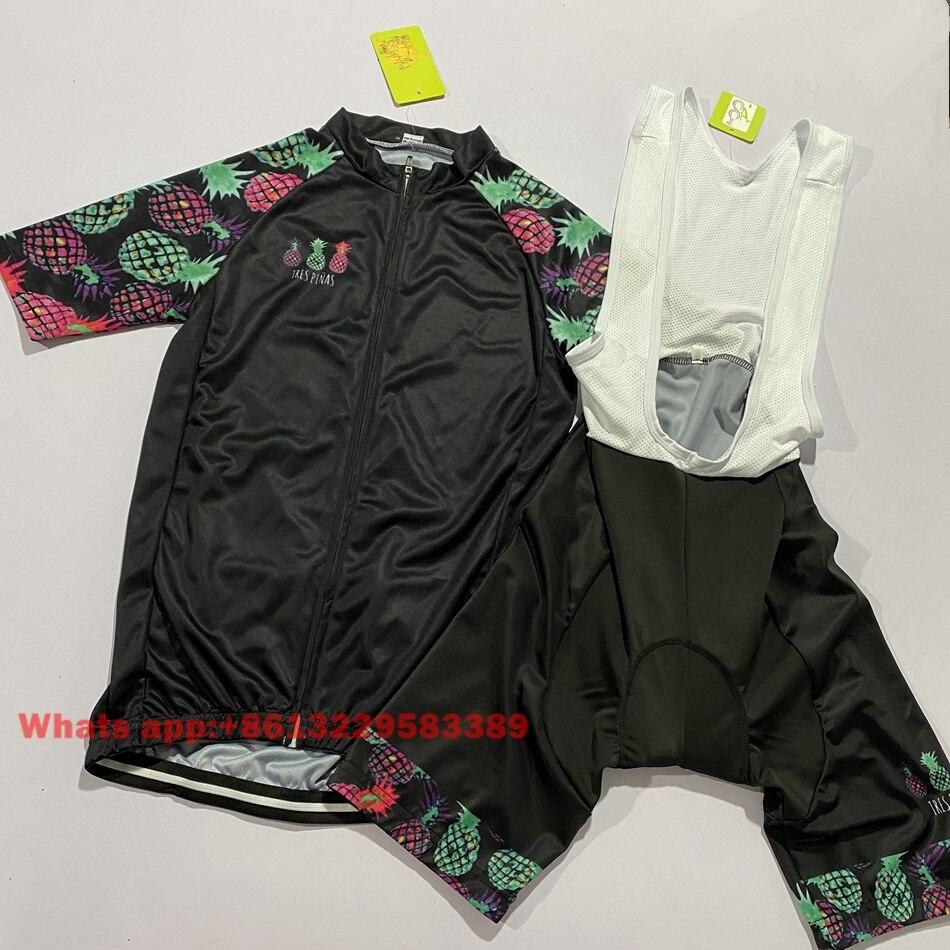 Tres pinas camisa de ciclismo das mulheres