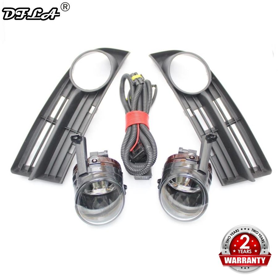 For VW Touran 1T1 2002 2003 2004 2005 2006 Car-styling Front Bumper Fog Lamp Fog Light + Wire Harness + Fog Lamp Grille Cover