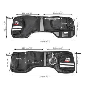 KEMiMOTO Saddlebag Lid Organizers Storage Bags For Street Glide Road King Electra Glide 1993-2013 Luggage 1 Pair