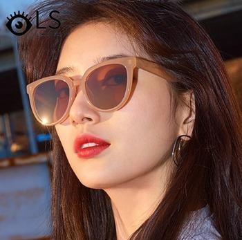 LS damskie okulary damskie luksusowe kwadratowe okulary przeciwsłoneczne damskie marka projektant okulary przeciwsłoneczne UV400 Vintage okulary przeciwsłoneczne YB096 tanie i dobre opinie CN (pochodzenie) WOMEN SQUARE Dla dorosłych Z tworzywa sztucznego
