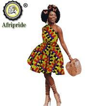 Платье мини женское с Африканским принтом пикантная модная повседневная