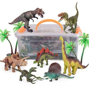 Image 2 - Dinosaur Toy Figure w/ Activity Play Mat & Trees, Educational Realistic Dinosaur Playset to Create a Dino World Including T Rex,