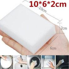 Esponja mágica branca da melamina do líquido de limpeza do eliminador do líquido de limpeza da esponja 100 pces multi-funcional para a limpeza 100x60x20mm do banheiro da cozinha