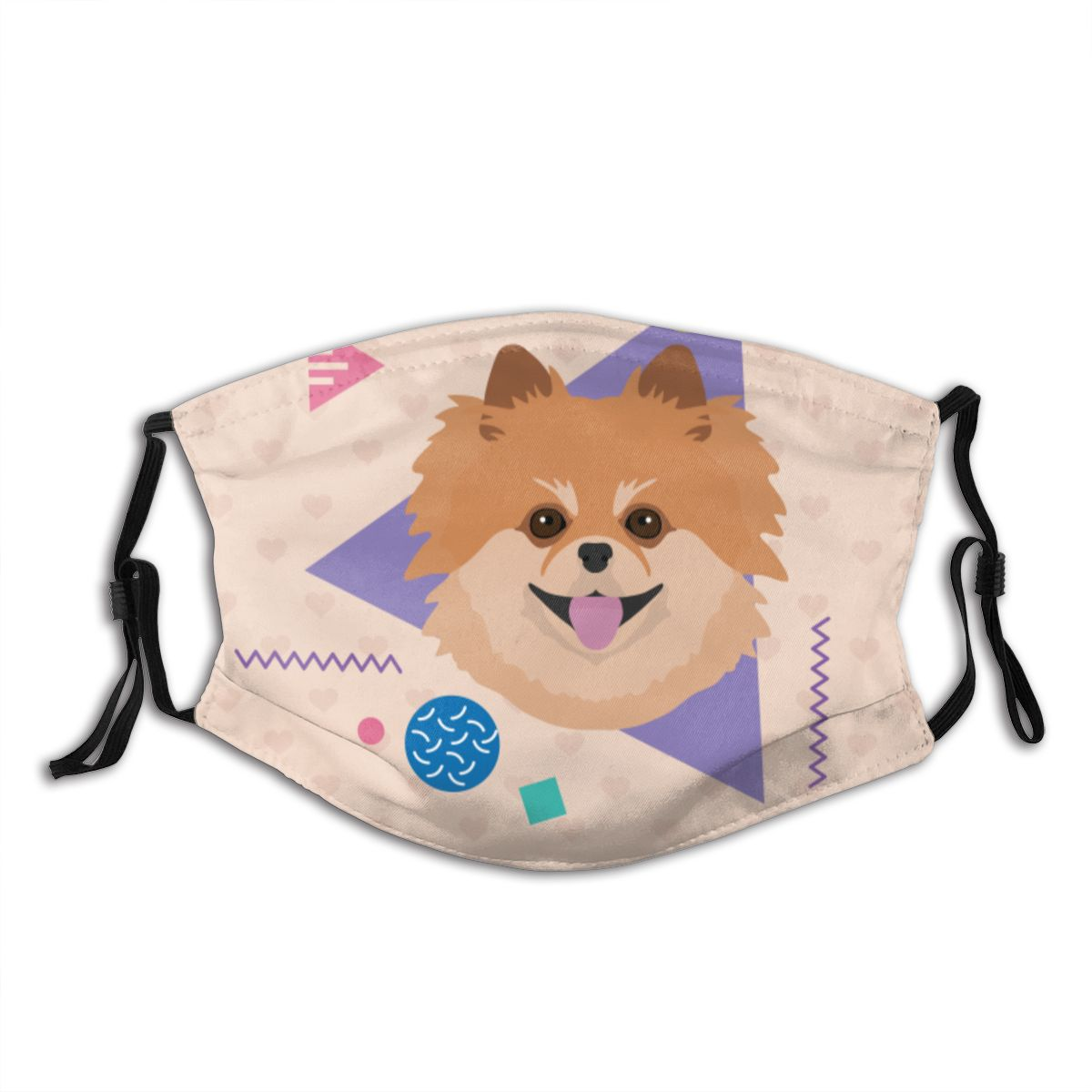 Protective Mask With Filter I Love My Pom Pomeranian Anti Dust PM2.5 Reuse Adult Teen Child Girl