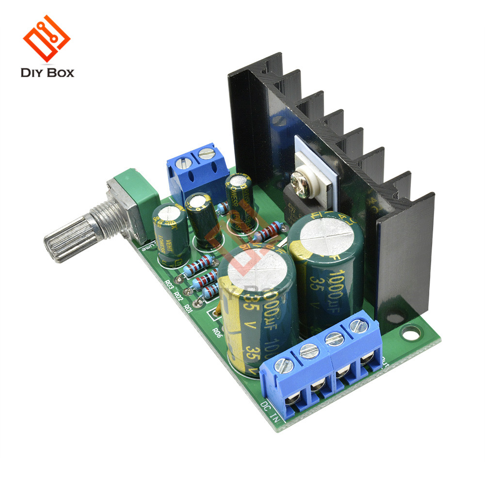 TDA2050 Mono Amplifier Board 5W-120W DC 12-24V Digital Audio Power AMP with Volume Control FOR Home Speakers