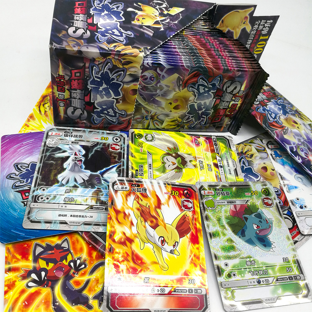 TAKARA TOMY Pokemon Cards Collections 150 Pcs/set 5 Pcs/bag Flash Card Table Card Board Game Toys For Children Christmas Gifts
