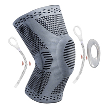 1 piece Knee Protector Knee Brace Silicone Spring Knee Pad Basketball Knitted Compression Elastic Knee Sleeve Support Sports spring knee booster removable spring adjustable knee support pad sleeve knee support knee