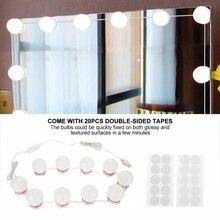แต่งหน้ากระจกโต๊ะเครื่องแป้งLEDหลอดไฟUSBชาร์จพอร์ตเครื่องสำอางค์LightedหลอดไฟปรับMake upกระจกความสว่าง