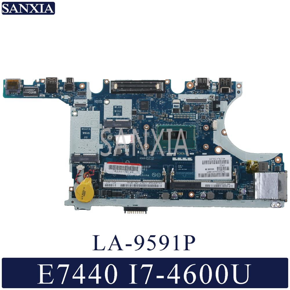 KEFU LA-9591P Laptop Motherboard For Dell Latitude E7440 Original Mainboard I7-4600U