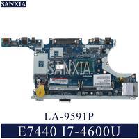 KEFU LA 9591P Laptop motherboard for Dell Latitude E7440 original mainboard I7 4600U