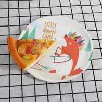 Melamine Cartoon Plate Imitation Porcelain Tableware Dessert Dish Child Breakfast Plate