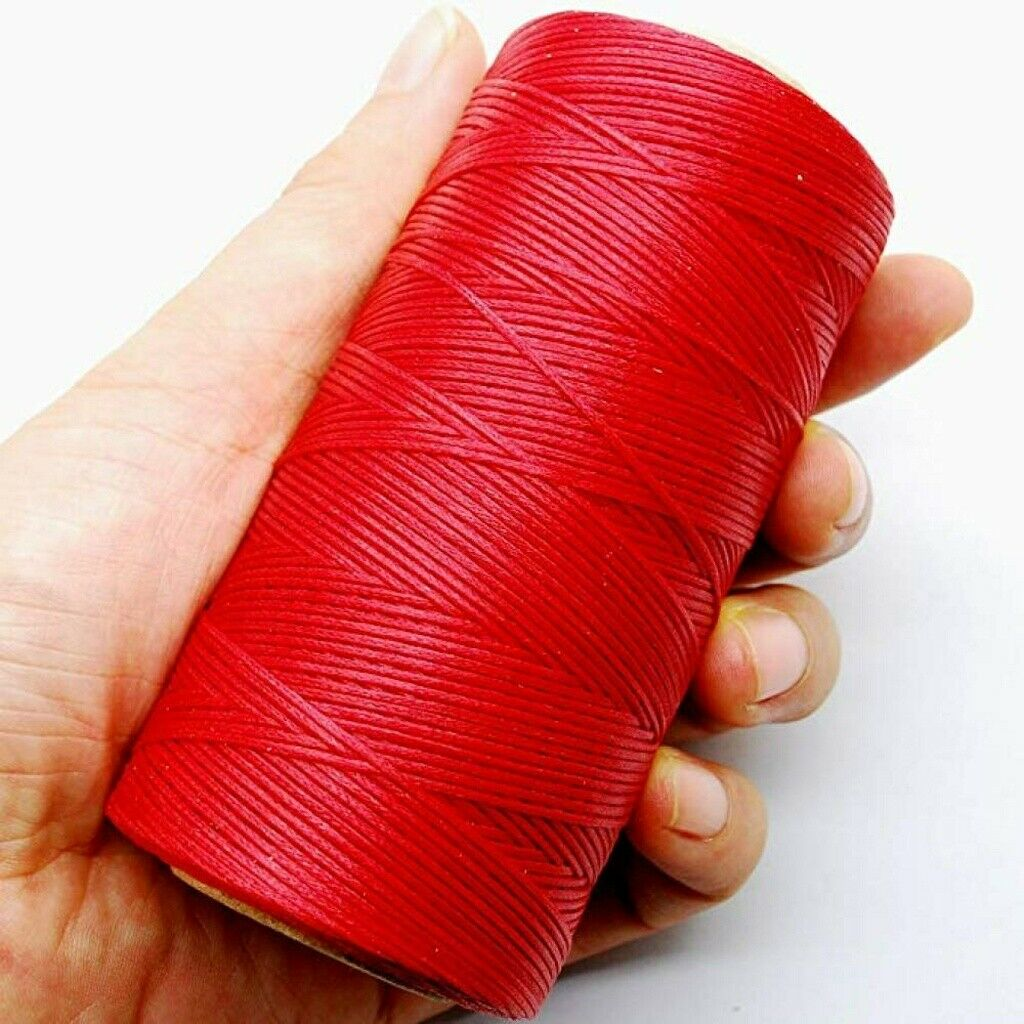 284yrd Champagne Leather Sewing Waxed Thread 150D 1mm Leather Hand Stitching 125g