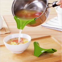 Pans Cooking-Tools Soup Kitchen Silicone Round 1PC Rim-Deflector Liquid-Funnel Drain