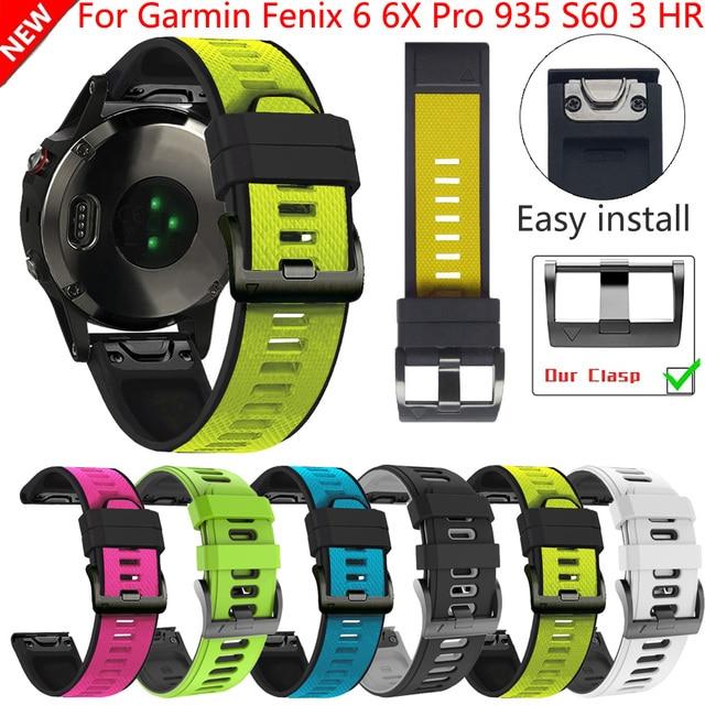 26 22Mm Quickfit Horloge Band Strap Voor Garmin Fenix 6 6X Pro Siliconen Easyfit Polsband Fenix 5X Plus 3HR Smart Accessoires