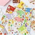 Mohamm 4 Sheets Nette Bär Dekorative Aufkleber Bücher Scrapbooking DIY Hinweis Papier und PVC Aufkleber Flakes Stationäre Büro Zugriffs