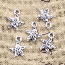 30 pz Charms stella di mare stella di pesce 16x12mm pendenti di colore argento antico artigianato fai da te fare risultati gioielli tibetani fatti a mano