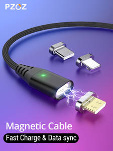 PZOZ Magnetic Cable Fast Charging Micro usb cable Type c Magnet Charger usb c Microusb